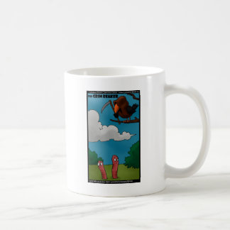 Birds To Worms The Grim Beaker Funny Gifts & Tees Classic White Coffee Mug