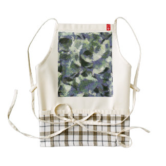 Birds trying to fly in heavy air zazzle HEART apron