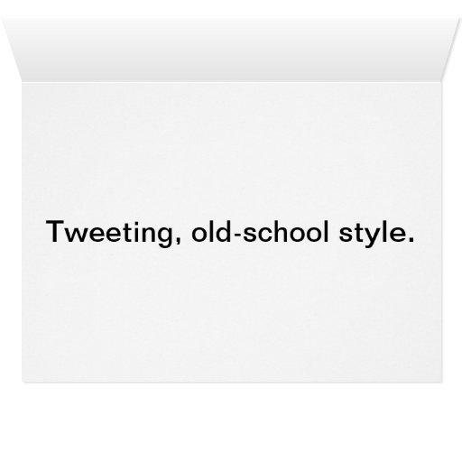 Birds Tweeting notecard Cards