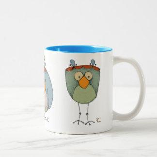 Birds Two-Tone Coffee Mug