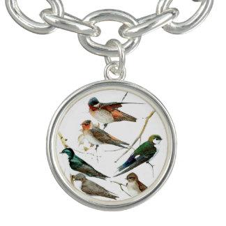 Birds vintage, colors pie, Bracelet
