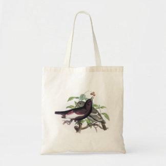 Birds vintage natural history illustration bag