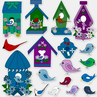 Birds Vinyl Stickers (Large) Collection