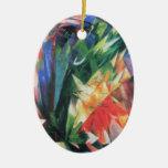 Birds (Vogel) by Franz Marc, Vintage Cubism Art Ceramic Ornament