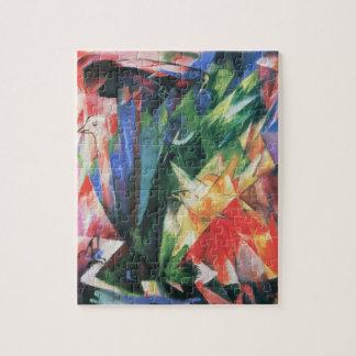 Birds (Vogel) by Franz Marc, Vintage Cubism Art Jigsaw Puzzle