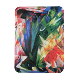 Birds (Vogel) by Franz Marc, Vintage Cubism Art Magnet