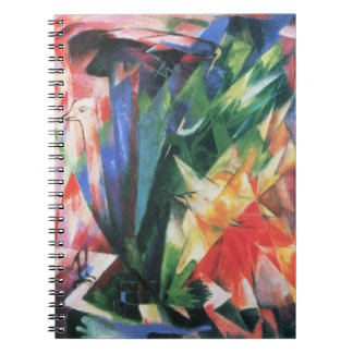 Birds (Vogel) by Franz Marc, Vintage Cubism Art Notebook