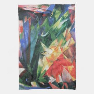 Birds (Vogel) by Franz Marc, Vintage Cubism Art Towel