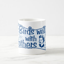 Classic White Mug with Birds Well WIth Others design