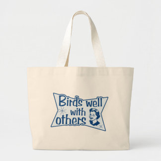 Birds Well With Others Jumbo Tote Bag