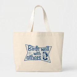 Jumbo Tote Bag with Birds Well WIth Others design