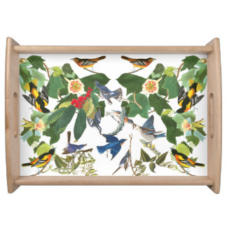 Birds Wildlife Animal Collage Serving Tray