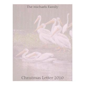 Birds Wildlife Animals Christmas Holiday Letter Letterhead
