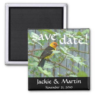 Birds Wildlife Animals Save the Date Wedding Magnet