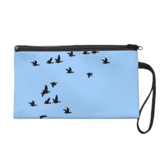 Birds Wildlife Wild Birds Wristlet Bag