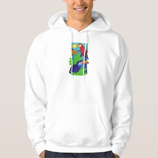 Birds with a Tropical Flair Hoodie