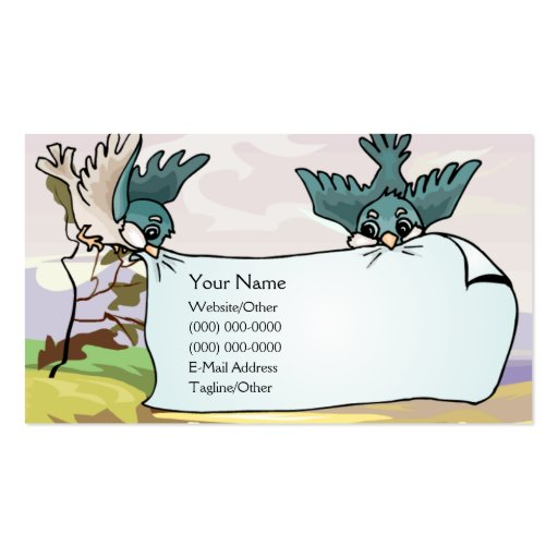 Birds with Banner Business Cards