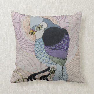 birds with rope throw pillow