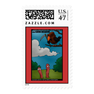Birds & Worms The Grim Beaker Funny Postage Stamps