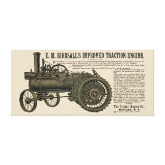 Birdsall's Steam Traction Engine 1889 Farm Tractor Canvas Print