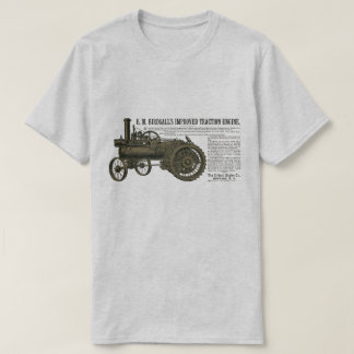 Birdsall's Steam Traction Engine 1889 Farm Tractor T-Shirt