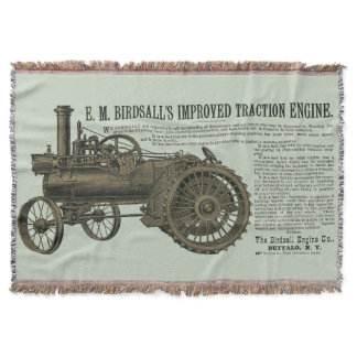 Birdsall's Steam Traction Engine 1889 Farm Tractor Throw