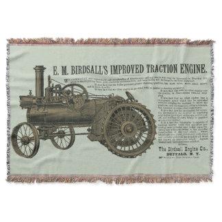 Birdsall's Steam Traction Engine 1889 Farm Tractor Throw