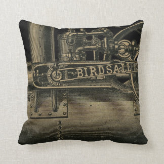 Birdsall's Steam Traction Engine 1889 Farm Tractor Throw Pillow