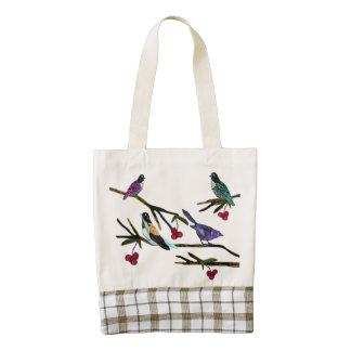 Birdscape Zazzle HEART Tote Bag