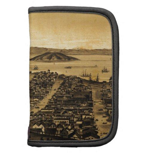 Birdseye de San Francisco de la colina rusa (1862) Planificador