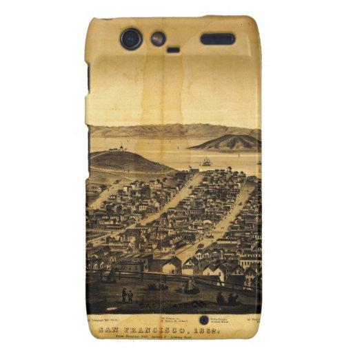 Birdseye de San Francisco de la colina rusa (1862) Droid RAZR Fundas