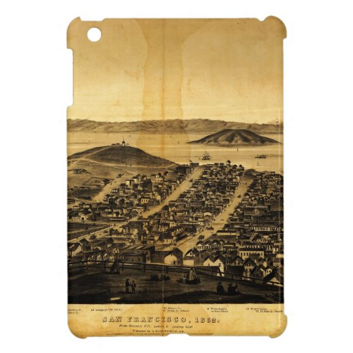 Birdseye de San Francisco de la colina rusa (1862) iPad Mini Cárcasas