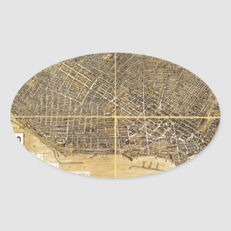 Birdseye map of Buffalo, New York (1900).jpg Oval Sticker