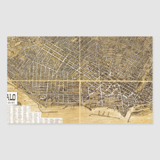 Birdseye map of Buffalo, New York (1900) Rectangular Sticker