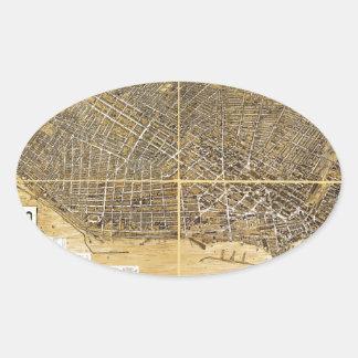 Birdseye map of Buffalo New York 1900 Sticker