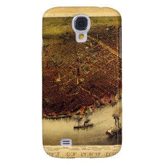 Birdseye map of New Orleans (1885) Galaxy S4 Case