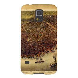 Birdseye map of New Orleans (1885) Galaxy S5 Case