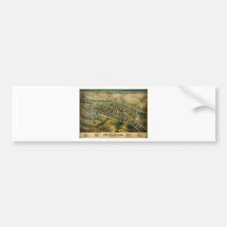 Birdseye map of Pendleton, Oregon (1890) Bumper Sticker