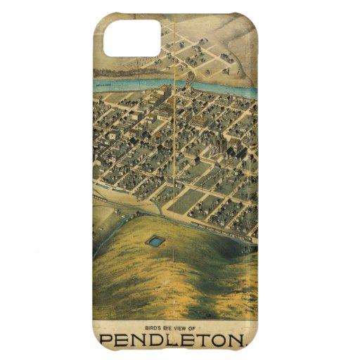 Birdseye map of Pendleton, Oregon (1890) iPhone 5C Case