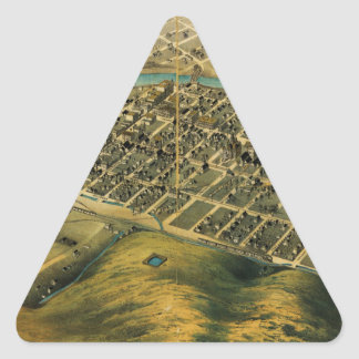 Birdseye map of Pendleton, Oregon (1890).jpg Triangle Sticker