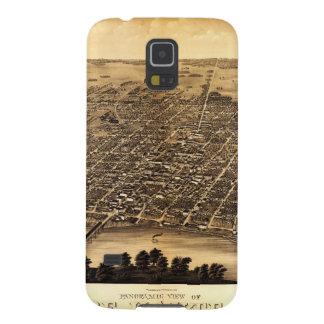Birdseye map of Terre Haute (1880) Case For Galaxy S5