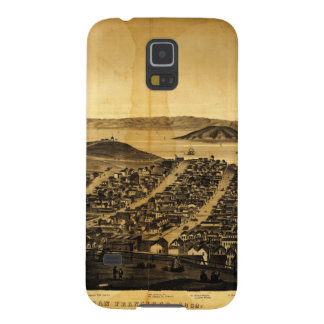 Birdseye of San Francisco from Russian Hill (1862) Cases For Galaxy S5