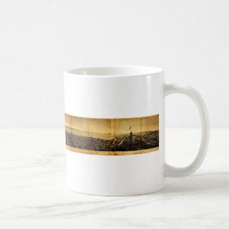 Birdseye of San Francisco from Russian Hill (1862) Classic White Coffee Mug