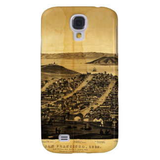 Birdseye of San Francisco from Russian Hill (1862) Galaxy S4 Cover