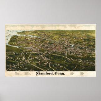 Birdseye of Stamford, Connecticut Poster