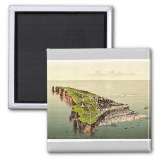Birdseye view, Helgoland, Germany rare Photochrom 2 Inch Square Magnet