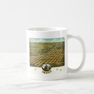 Birdseye view of Austin, Minnesota 1870 Coffee Mug