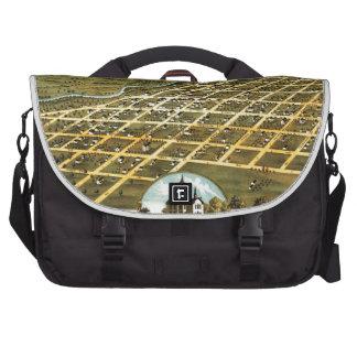 Birdseye view of Austin, Minnesota 1870 Bag For Laptop