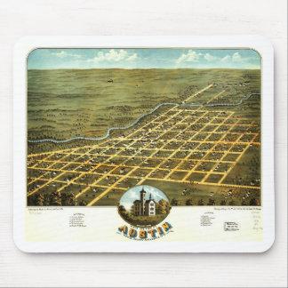 Birdseye view of Austin, Minnesota 1870 Mouse Pad
