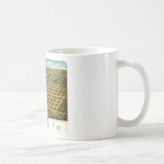 Birdseye view of Austin, Minnesota 1870 Classic White Coffee Mug